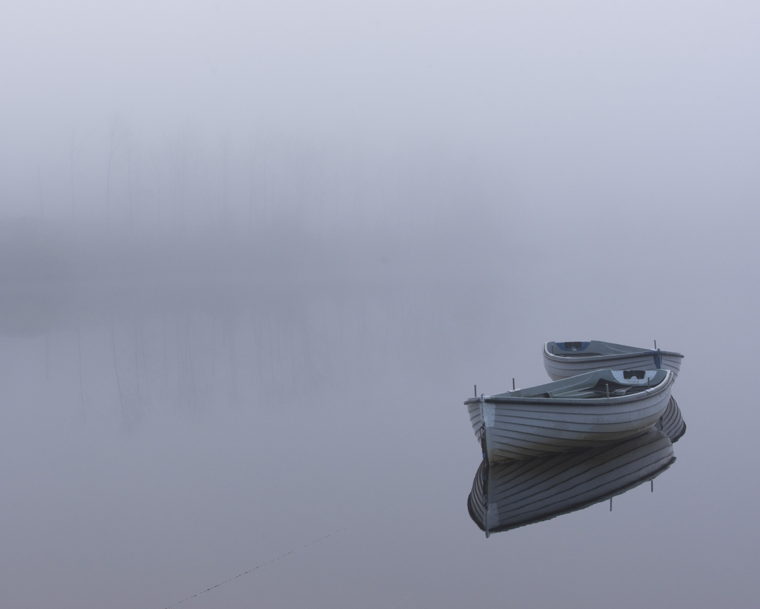 Two boats on Loch Rusky