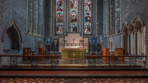Altar and part of chancel St Canice Cathedral